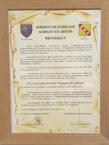 Commune D Aubigny En Artois Le Jumelage Avec Brunehaut